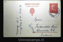 Sweden Postcard Mi Nr P 42  To Germany, 1923, Signed/geprüft