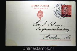 Sweden Postcard Mi Nr P 47 II,  To Nerchau 1924 - Postwaardestukken