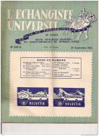 """L´ECHANGISTE UNIVERSEL """"LA VIE PHILATELIQUE"""" REVUE MENSUELLE ILLUSTREE 25 SEPTEMBRE1953 REF 15326 - Francesi (dal 1941))"""