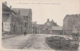 Cpa/pk 1918 Loo Lo-Reninge Vue De La Rue De L´Est Après Le Bombardement Destrooper - Lo-Reninge