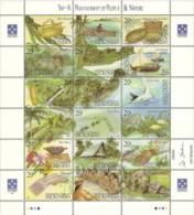 Micronesia,  Scott 2014 # 186,  Issued 1993,  Sheet Of 18,  NH,  Cat $ 12.50, Marine Life - Micronesia
