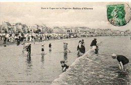 Cp175  Sables D´olonne  Vendée  La Plage 1911 - Sables D'Olonne