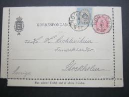 1894, Ganzsache Nach Stockholm - Briefe U. Dokumente