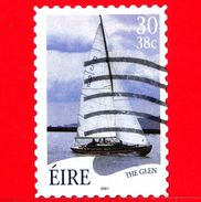 IRLANDA - Usato - 2001 - Barche A Vela - Imbarcazioni - Ships - The Glen - 30 38 C - 1949-... Repubblica D'Irlanda