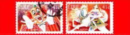 IRLANDA - Usato -  2002 - Europa - Circo - 0,41 Clown - Cavallerizza 0,44 - Usati