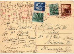 ITALIE ENTIER POSTAL CENSURE EN ALLEMAGNE 1947 - Interi Postali