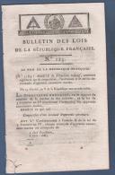 BULLETIN DES LOIS AN V - APPRENTIS CANONNIERS MARINS - NOUVEAUX DEPUTES - TRIBUNAL DE CASSATION - Decrees & Laws