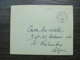 LETTRE HAMMAM MELOUANE SAS 1960 POUR   ALGER  COVER COLONIE - Brieven En Documenten