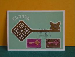 Carte Maxi / FDC, Europa CEPT - Paris - 27.4.1968 - 1er Jour - Europa-CEPT