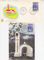 REUNION -FDC - 1 LETTRE + 1 CARTE FDC AFFRANCHIES AVEC N°361 . COTE 30 € - Storia Postale