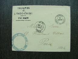 LETTRE EN FRANCHISE AVEC CORPS EXPEDITIONAIRE 1892 HA NOI TONKIN  INDO CHINA COLONIE  COVER