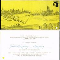 PL Polen Ausstellung Poznan POLSKA 1973 Einladung Z. Festabend - Varietà E Curiosità