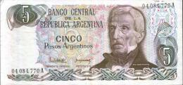 CINCO PESOS ARGENTINOS - Argentinien