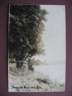 CPA PHOTO 91 SAINTRY SUR SEINE Les Bords De La Seine 1927 RARE Canton SAINT GERMAIN LES CORBEIL - Other Municipalities