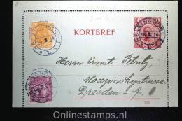Sweden: Card Letter Kortbrief Mi K10 Upgraded, Halsingborg To Dresden Germany, - Postwaardestukken
