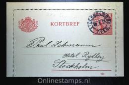 Sweden: Card Letter Kortbrief Mi K10 Upgraded, Stockholm Local - Postwaardestukken