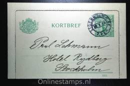 Sweden: Card Letter Kortbrief Mi K19 Stockholm Local, 1913 - Postwaardestukken