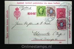 Sweden: Card Letter Kortbrief Mi K8 Upgraded, Stockholm To Chemnitz Germany 1908