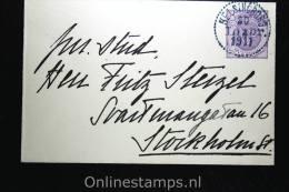 Sweden: Cover Mi. U 17 WM 1 , Used - Postwaardestukken