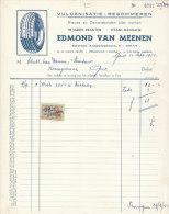 Facture Invoice Kredietnota Garage Banden Pneus Edmond Van Meenen Gent 1955 Auto Automobielen Voitures - Cars