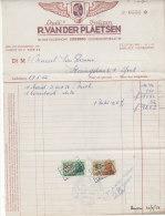 Facture Invoice Kredietnota Garage Banden Pneus Vanderplaetsen Ledeberg Gent 1952 Auto Automobielen Voitures - Cars