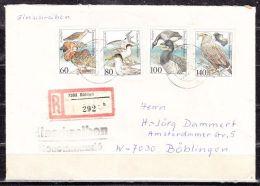 Einschreiben, Satzbrief Seevoegel, Boehlen Nach Boeblingen 1992 (14534) - Storia Postale