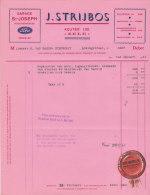 Facture Invoice Kredietnota Garage St- Joseph Strijbos Zele 1951 Auto Automobielen Voitures - Cars