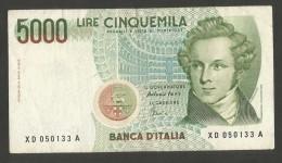 REPUBBLICA ITALIANA - 5000 Lire BELLINI - Serie Speciale SOSTITUTITVA XD (Firme: Fazio / Amici - 1996) - NON Comune - [ 2] 1946-… : Repubblica