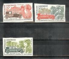 Non Dentelé - Louis Renault - Yv 384-385-386 - Non Dentelés ! - Gabon (1960-...)