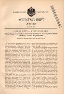 Original Patentschrift - Ernst Otte In Herrenhausen B. Hannover , 1897 , Strangpresse Für Formsteine , Presse , Steine ! - Maschinen