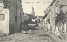 39 - CHAMPVANS-LES-DOLES - Jura - Rue De L'Église - Frankrijk
