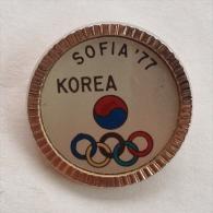 Badge / Pin (Olympic / Olimpique) - Bulgaria Sofia Universiade 1977 KOREA - Olympic Games