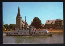 Carte Postale Postcard Ardennes Givet Bateau Mouche Bayard Eglise De Notre Dame - Givet