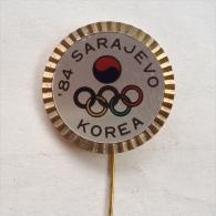 Badge / Pin (Olympic / Olimpique) - Yugoslavia Sarajevo Winter Games 1984 KOREA - Olympic Games