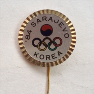 Badge Pin ZN000354 - Olympic (Olimpique) Yugoslavia Bosnia Sarajevo Winter Games 1984 KOREA - Olympische Spiele