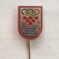 Badge / Pin (Olympic / Olimpique) - Hrvatski Olimpijski Odbor (Croatian Olympic Committee) - Olympic Games