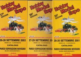 Lotto 3 Cataloghi Fiera Modellismo Novegro 2001-2002-2003 - Modellismo
