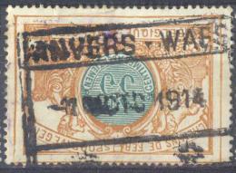 _3T928: TR33: ANVERS-WAES  /  -1 X 1914  / +__+... Een Week Voor De Bezetting 14-18 !! (10.10.14)  ( - Spoorwegen