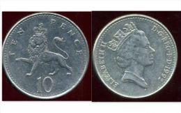ROYAUME UNI 10 Ten Pence 1992 ANM - 10 Pence & 10 New Pence