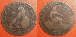5 Cinco Centimos 1870 OM ESPAGNE ESPANA SPAIN - [ 1] …-1931 : Royaume