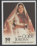 Jordan. Traditional Costumes. 2009. MNH SS.  SCV = 4.25 - Jordan