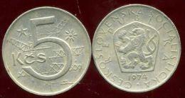 TCHECOSLOVAQUIE 5 Korun 1974 - Tchécoslovaquie