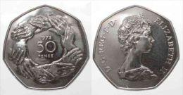 England UK 50 Pence 1973 ELIZABETH II Cu-Ni PROOF # 76861 - 1971-… : Monnaies Décimales