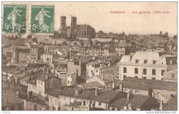 G- VERDUN DANS LA MEUSE  VUE GENERALE CPA CIRCULEE - Verdun