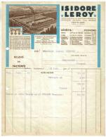 Facture 1932 Isidore LEROY Voir ZOOM Maison Guillou Fils Réunie à PONTHIERRY - France