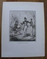 Gravure PROMENADE Aux INVALIDES - Repro De Années 30 - Prints & Engravings