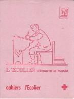 Buvard Neuf L'écolier Découvre Le Monde (Cahiers L'écolier) - Années 1950/60 - Buvards, Protège-cahiers Illustrés