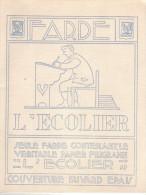 Protège Farde  L´écolier (couverture Buvard épais) - Années 1950/60 - Buvards, Protège-cahiers Illustrés