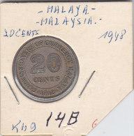 20 CENTS 1948 1943 Qualité++++++++++++++++++ - Malaysie