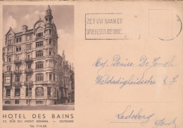 Oostende  Hotel Des Bains        Scan 5206 - Oostende